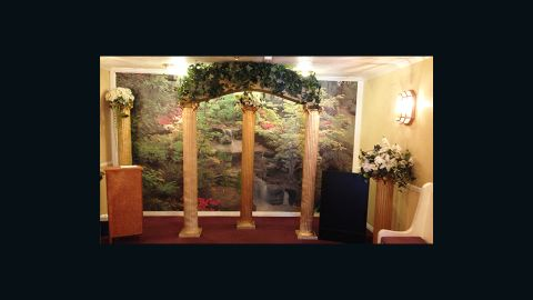 A view of the side chapel at A Little White Wedding Chapel.