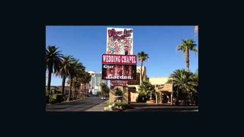 """<a href=""""http://www.vivalasvegasweddings.com/index.htm"""" target=""""_blank"""" target=""""_blank"""">Viva Las Vegas</a> offers traditional weddings, Elvis weddings (which is practically traditional) and weddings with themes like Thriller, Alice Cooper, Camelot, Goth, Star Trek and so many more."""