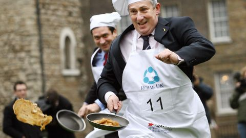 Brits observe the first day of Lent with Pancake Day, and often celebrate the occasion with pancake races. Each year, members from the British houses of Parliament host their own race to raise awareness for charity.