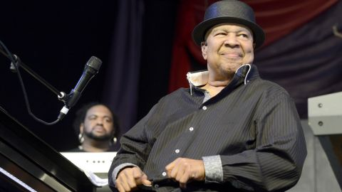 """<a href=""""http://www.cnn.com/2013/08/07/showbiz/music/jazz-artist-george-duke-dies/index.html?iref=allsearch"""">George Duke,</a> seen here at the 2013 New Orleans Jazz & Heritage Festival in May, died in August at the age of 67. The legend was known for his phenomenal skills as a keyboardist, and his ability to bridge together jazz, rock, funk and R&B."""