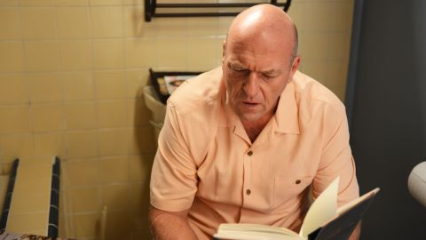 """In the last episode before """"Breaking Bad's"""" final run, Hank discovers some incriminating bathroom reading in Walt's house. What will he do with this startling information? The answer may drive the narrative for the show's final eight episodes."""