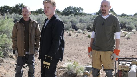 Jesse, Walt and new accomplice Todd (Jesse Plemons) encounter an unfortunate surprise witness when they stage a daring train robbery in the New Mexico desert.