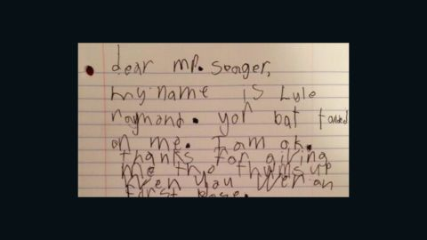 Lyle Raymond wrote the kindest fan letter ever to Kyle Seager of the Seattle Mariners. Seriously. It's so cute you could puke.