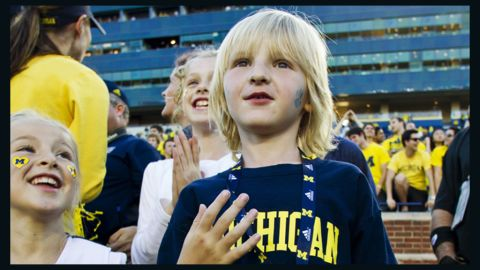 """In 2012, CNN affiliate KWTV reported that 5-year-old Cooper Barton (seen here) <a href=""""http://schoolsofthought.blogs.cnn.com/category/dress-codes/"""">was asked by his school principal to turn his University of Michigan shirt inside-out</a> The school district only allowed university wear from schools in the state of Oklahoma. The dress code said the policy was meant to deter gangs."""
