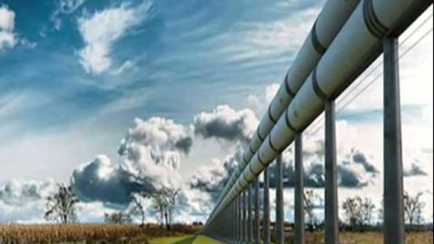 When possible, Musk said, Hyperloop would follow the path of existing highways. Even when it doesn't, he says, its elevation high off the ground would minimize noise and other disruptions.