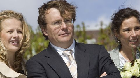 Dutch Prince Johan Friso with Princess Mabel and Princess Marilene in 2006 in Almere, the Netherlands.