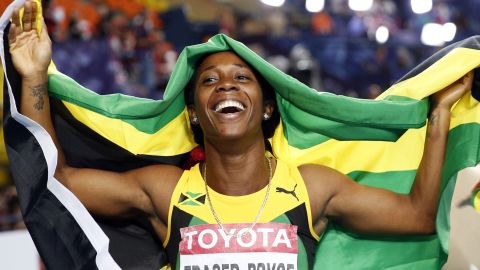Both Jamaicans completed 100/200m doubles at the 2013 world championships in Moscow.