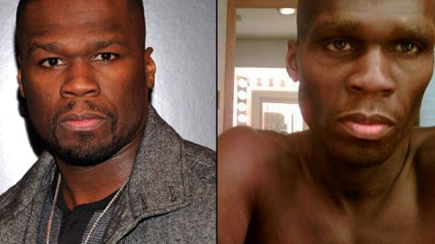 """50 Cent <a href=""""http://www.huffingtonpost.com/2010/05/26/50-cent-loses-a-lot-of-we_n_591102.html"""" target=""""_blank"""" target=""""_blank"""">had fans worried</a> that he was truly ill when images surfaced of his role as a man suffering from cancer in """"All Things Fall Apart."""""""