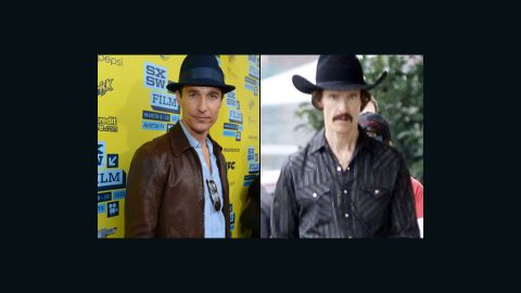 """Matthew McConaughey lost at least 40 pounds to portray a man with AIDS in the December release """"Dallas Buyers Club."""""""