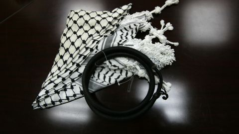 """In 2009, a <a href=""""http://www.alarabiya.net/articles/2009/02/19/66802.html"""" target=""""_blank"""" target=""""_blank"""">Pennsylvania high school banned students from wearing the keffiyeh</a>, a traditional scarf often worn in the Middle East, in hopes of lessening racial tensions. Alarabiya.net reported that the school reversed the ban a day later."""