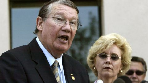 """Former U.S. Rep. Randy """"Duke"""" Cunningham, R-California, was sentenced to eight years in prison in 2006 after he was convicted of collecting $2.4 million in homes, yachts, antique furnishings and other bribes on a scale unparalleled in the history of Congress."""