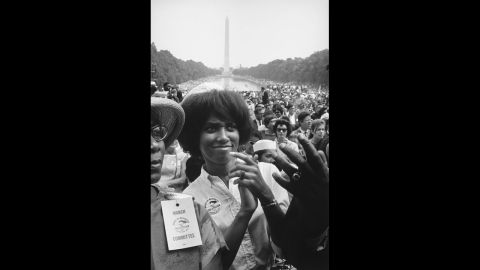 Though the most iconic shot from the March on Washington may be of King waving to the crowd, Freed moved throughout the crowd finding the faces that weren't seen in the papers.