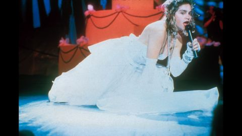 """During the first MTV Video Music Awards in 1984, Madonna set the bar with her performance of """"Like a Virgin"""" in a low-cut wedding gown."""