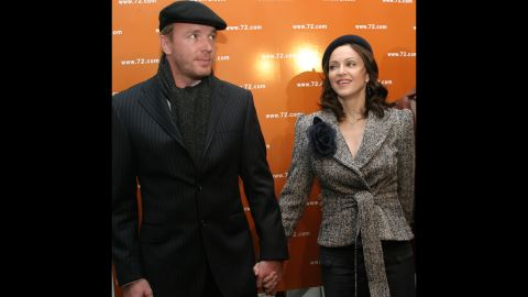 """Then-husband Guy Ritchie and Madonna attend the launch party for """"The 72 Names of God,"""" a book by Rabbi Yehuda Berg, the co-director of the Kabbalah Center, at the New Museum for Contemporary Art in New York on April 24, 2003. Madonna's interest in Kabbalah, a mystic branch of Judaism, was widely discussed at this time."""
