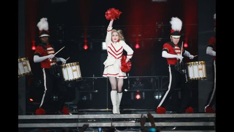 """Madonna performs during the """"MDNA"""" tour at Madison Square Garden in New York on November 12, 2012."""