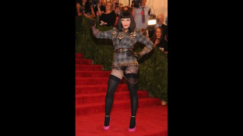 """Madonna attends the Costume Institute Gala for the """"PUNK: Chaos to Couture"""" exhibition at the Metropolitan Museum of Art in New York in May 2013."""