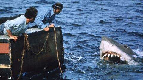 """Steven Spielberg's 1975 shark thriller """"Jaws"""" gave birth to the summer blockbuster and a cultural love-hate relationship with swimming in the ocean. The filmmaker's classic also proved that these beasts were ready for their close-ups."""