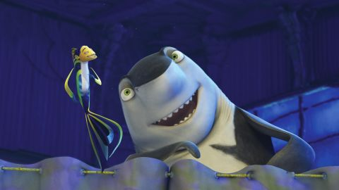 """In 2004, the shark wave rolled on with DreamWorks' """"Shark Tale,"""" featuring the voices of Will Smith, Angelina Jolie, Renee Zellweger and Jack Black as Lenny the shark. With Hans Zimmer composing, the soundtrack had just as much bite."""