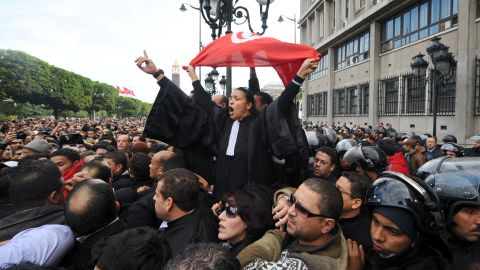 Tunisian protests set off the Arab Spring, a series of uprisings in 2011.