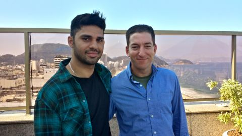 Glenn Greenwald, right, seen with his partner, David Miranda, is leaving The Guardian for a new journalistic venture.