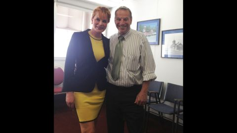 """Businesswoman <a href=""""http://www.cnn.com/2013/08/21/us/san-diego-mayor-bob-filner-scandal/index.html"""" target=""""_blank"""">Dianne York</a> told CNN that<a href=""""http://www.cnn.com/2013/08/21/us/san-diego-mayor-bob-filner-scandal/index.html""""> San Diego Mayor Bob Filner </a>put his hands on her buttocks during this photo op after a meeting three months ago. York said there were witnesses. She said both her advisers and Filner's were in the room at the time. Click through the gallery of other women who have come forward in the case."""
