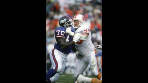 """Tom McHale of the Tampa Bay Buccaneers, right, died in 2008 <a href=""""http://www.cnn.com/2009/HEALTH/01/26/athlete.brains/index.html"""">of an apparent drug overdose</a> at the age of 45."""