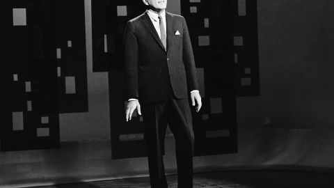 """The resurrection of Tony Bennett's career is often credited to Bernstein, who booked him at Carnegie Hall in 1962. Here Bennett appears on the """"The Tonight Show"""" in October of 1962."""