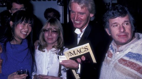 """Bernstein attends the book party for """"The Macs"""" with May Pang, Cynthia Lennon and Mike McCartney on November 23, 1981, in New York City."""