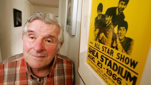 Bernstein poses in his Manhattan apartment on August 12, 2005.