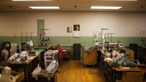 """To stay open, Mohnton Knitting Mills had to lay off most of its staff over the years and cut benefits for remaining employes. Owner Gary Pleam says 1998 """"was the last good year."""" The company also has streamlined operations to target boutique clients like Small Trades, whose edited collection of striped T-shirts and dresses ranges from $50 to $80."""