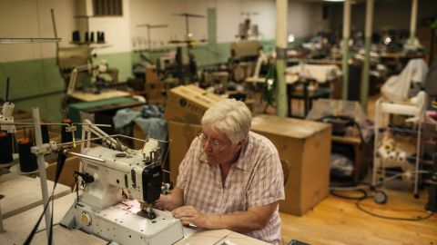 Beverley Deysher, 64, has worked at Mohnton Knitting Mills since she was 18.