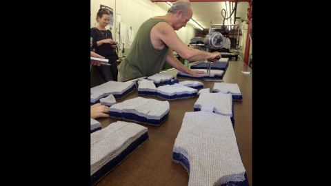 """Adnan Azar is a machinist by trade who became a pattern maker so he could get a job. Aside from finding new clients, the biggest hindrance to expanding Mohnton Knitting Mills is finding skilled labor willing to do jobs that aren't """"sexy,"""" owner Gary Pleam says."""