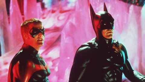"""Handsome, up-and-coming actor George Clooney was cast as the Caped Crusader in 1997's """"Batman & Robin."""" The film received some of the worst reviews, and Clooney once joked that he helped to kill the franchise. Although the film did nothing to hurt Clooney's career, it frequently is cited among one of the worst films of all time. Chris O'Donnell, left, portrayed Robin."""