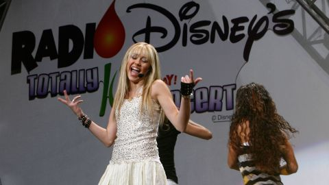Cyrus performs during the Radio Disney Totally 10 Birthday Concert in July 2006 in Anaheim, California.