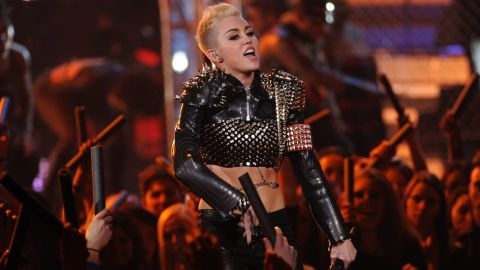 """The grown-up Cyrus performs during the """"VH1 Divas"""" concert in Los Angeles in December 2012."""