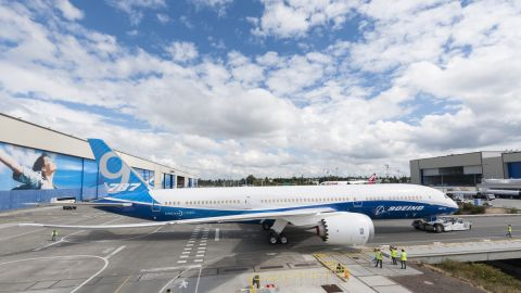 Boeing completes first 787-9 Dreamliner.
