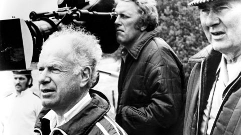 """British cinematographer <a href=""""http://www.cnn.com/2013/08/27/showbiz/movies/obit-star-wars-cinematographer-gilbert-taylor/"""">Gilbert Taylor,</a> right, died in his home on the Isle of Wight on Friday, August 23. The man behind the visual style of movies such as """"Star Wars"""" and """"Dr. Strangelove"""" was 99. Here, Taylor and director Peter Brooks, left, film """"Meetings With Remarkable Men"""" in 1979."""