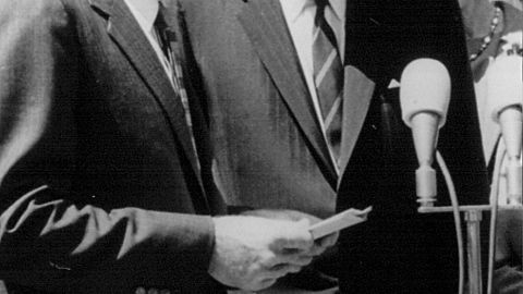 President John F. Kennedy, right, with his brother, Attorney General Robert Kennedy, in May 1963.