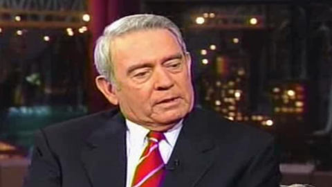 """Letterman's first show after the September 11 attacks was an understandably subdued and emotional episode. The monologue was skipped in favor of honoring those lost in the attack. Dan Rather was one of the night's guests, and he memorably couldn't hold back tears as he recited """"America the Beautiful."""""""