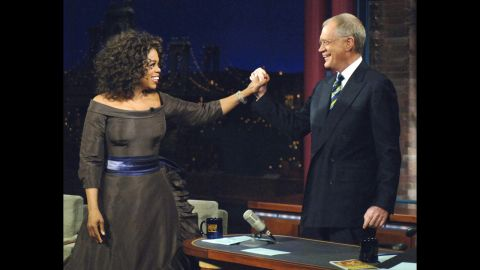 """It had been 16 years since Oprah Winfrey last set foot on """"Letterman"""" when she finally returned in December 2005. The episode of course brought in monster ratings, as it appeared that the two were making up. The irony was that neither truly knew -- or at least would admit on TV -- what caused their supposed """"feud,"""" or if there was ever a tiff in the first place."""