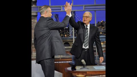 """Before Bill O'Reilly and David Letterman found a reason to high-five one another in 2011, they'd had a war of words while taping """"Late Show"""" in 2006. The conversation was about the Iraq War, and the debate became so agitated that the light-hearted comments turned into terse insults."""