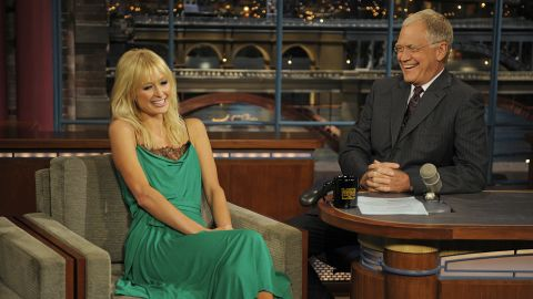 """Paris Hilton braved seeing Letterman again in 2008 even after he upset her during her 2007 interview. The late night host grilled her about her jail time to the point that she said she was """"sad"""" she'd even come on the show. The following year, Letterman acknowledged how tough he'd been on the celebutante and <a href=""""http://www.people.com/people/article/0,,20175786,00.html"""" target=""""_blank"""" target=""""_blank"""">made nice</a>."""