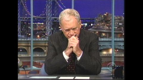 """In October 2009, Letterman made a stunning admission live on the air when he told his audience that he'd had sexual relationships with female members of his staff and that someone had been attempting to blackmail him as a result. The following Monday, he used his show <a href=""""http://www.cnn.com/2009/SHOWBIZ/TV/10/05/david.letterman.apology/index.html?iref=allsearch"""" target=""""_blank"""">to offer a """"heartfelt"""" apology to his wife and to his female staffers.</a>"""