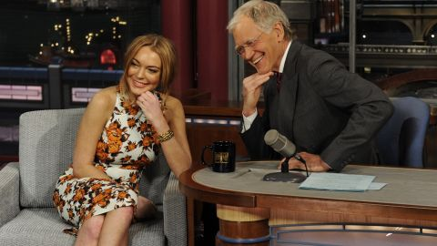 """Prior to her court-mandated stint in rehab, Lindsay Lohan gave an emotional but also surprisingly endearing and transparent interview. Letterman, of course, didn't take the easy route and asked pointed, frank questions. Although he led her down a road that ended in tears, the host commended Lohan when it was done: """"We never thought we'd see you again, honestly, because of the jokes and stuff,"""" he told her. """"But you have enough spine, enough sense of yourself, enough poise to come out here and talk to me."""""""