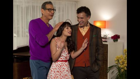 'Glee': Jeff Goldblum and Brian Stokes Mitchell as Hiram and Leroy Berry, fathers of musical prodigy Rachel, played by Lea Michele.