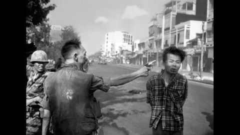 """During the Vietnam War, Eddie Adams photographed Gen. Nguyen Ngoc Loan, a South Vietnamese police chief, killing Viet Cong suspect Nguyen Van Lem on a Saigon street during the early stages of the Tet Offensive in 1968. Adams later regretted the impact of the Pulitzer Prize-winning image, apologizing to Gen. Nguyen and his family for the damage it did to the general's reputation. """"I'm not saying what he did was right,"""" <a href=""""http://content.time.com/time/magazine/article/0,9171,988783,00.html"""" target=""""_blank"""" target=""""_blank"""">Adams wrote in Time magazine</a>, """"but you have to put yourself in his position."""""""