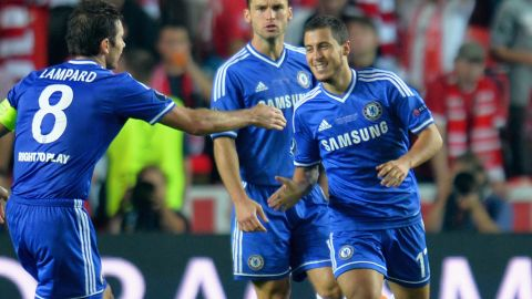 Alongside Fellaini in Belgium's midfield is Chelsea's Eden Hazard. French club Lille was key to Hazard's development and the midfielder spent five years with the Ligue 1 team before joining Chelsea.