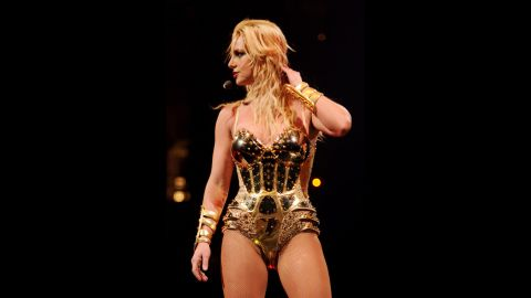 """While in Vancouver in 2009, Britney Spears strongly wished her audience had said no to drugs. The pop star was so aggravated by the smell of cigarette and other kinds of smoke that she cut the concert short 15 minutes in. Spears did eventually come back to the stage, but she didn't sound too happy about it -- she ended the concert by saying, """"<a href=""""http://www.people.com/people/article/0,,20271319,00.html"""" target=""""_blank"""" target=""""_blank"""">Vancouver, don't smoke weed</a>."""" She is seen at an earlier show on the tour."""