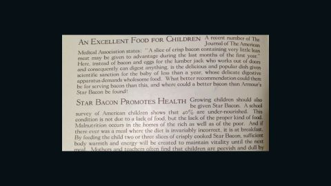 Touting the health benefits of bacon -- Slices of Real Flavor, Armour and Company (1925)