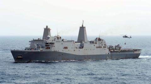 The USS San Antonio.